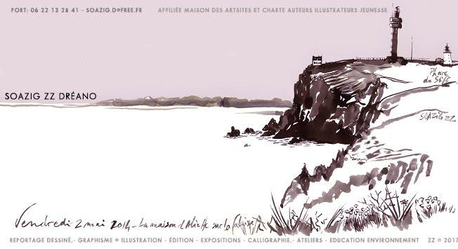 Soazig ZZ Dréano - graphisme illustration ateliers expos reportage dessiné