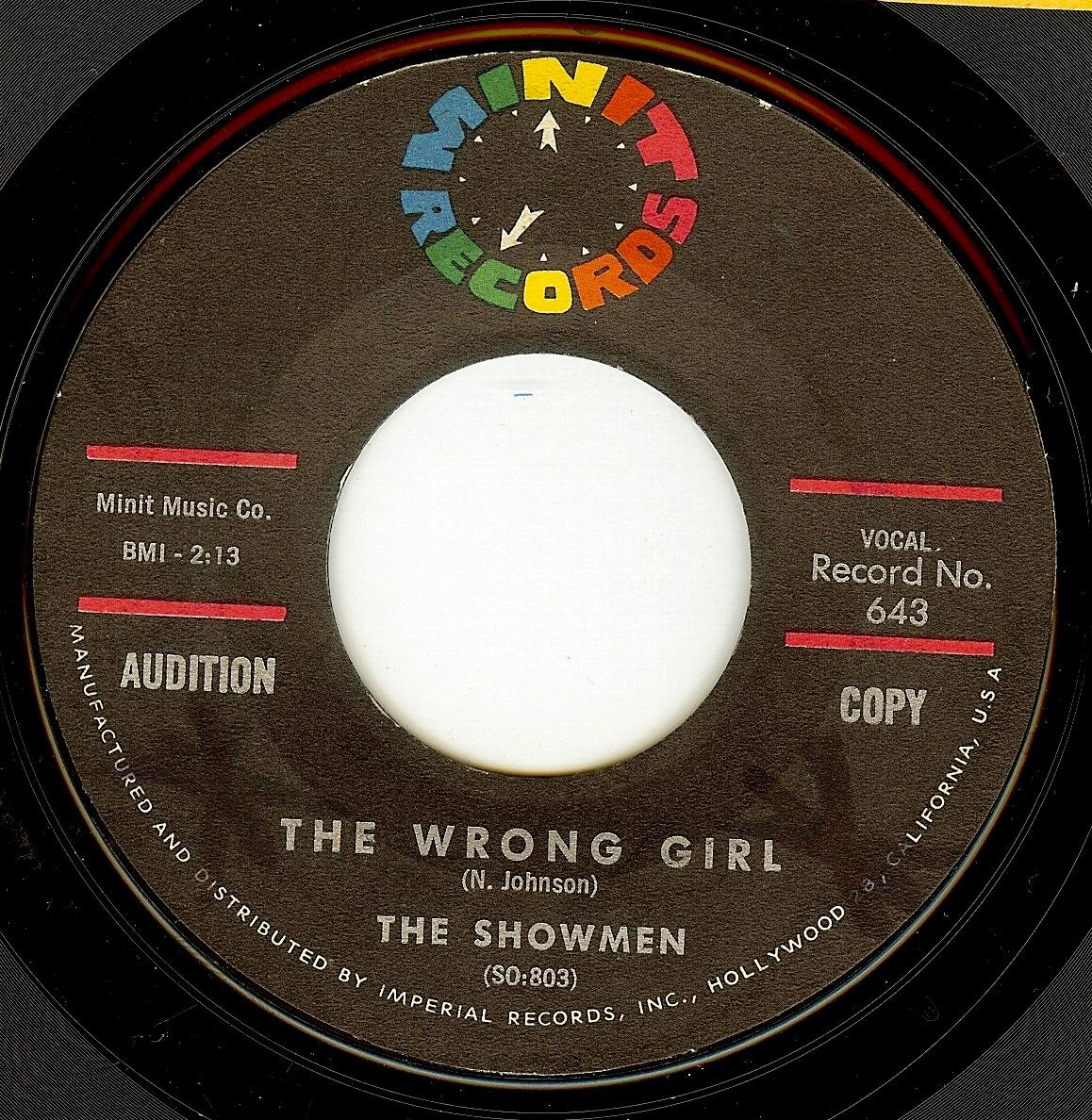 The Showmen The Wrong Girl