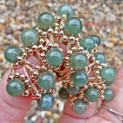 Sparkly Jade Wire Wrap Rings by Wirebliss