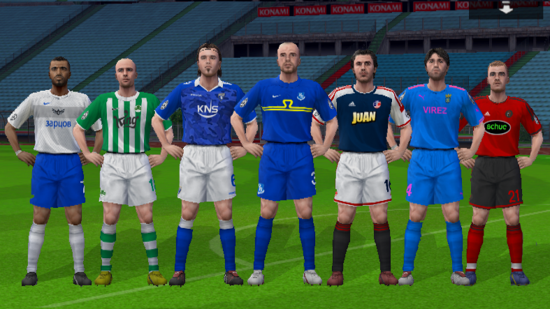 Roy of the Rovers 2014/15 PES European teams