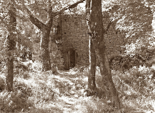 Abandoned church of San Lorenzo di Caprione, Lerici, Liguria.