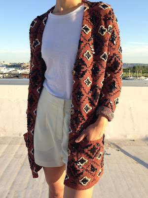 As seen on Solange Knowles - Opening Ceremony Oversized Embellished Cardigan