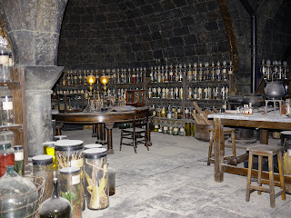 Potions Classroom at WB Harry Potter Studio Tour in London