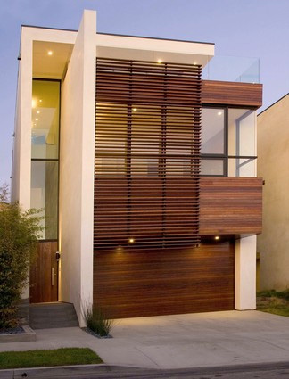 Sports news contemporary home design in manhattan beach for Modern house plans 3 story