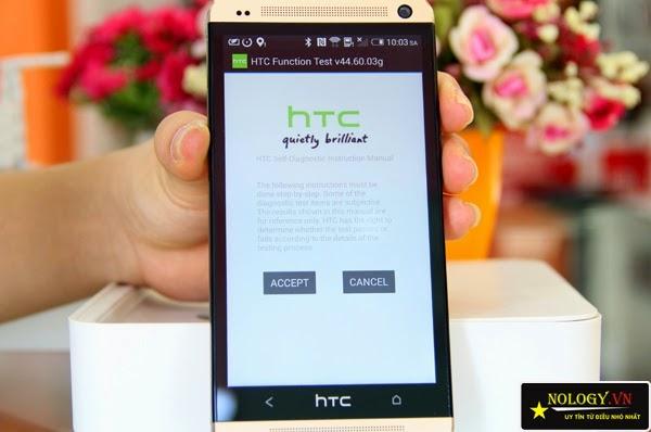 HTC One M7 - cách test cảm ứng