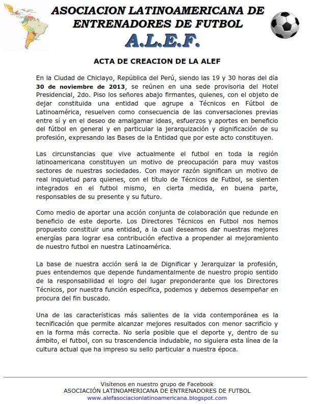 ACTA DE CREACIÓN DE LA AELF