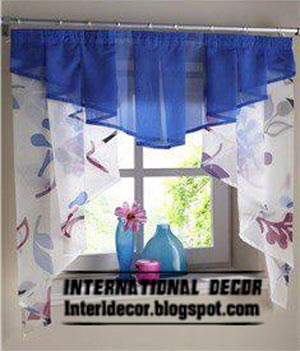 International decor: Small curtains models for kitchens in ...