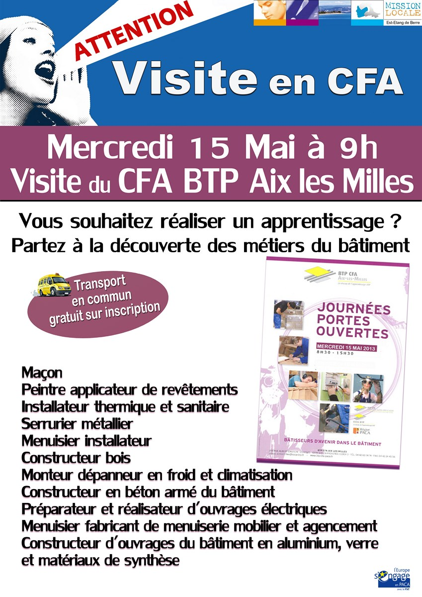 visite du cfa btp d 39 aix les milles 15 mai 2013. Black Bedroom Furniture Sets. Home Design Ideas