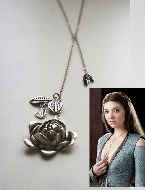 Colgante Juego de Tronos Margaery Tyrell rosa
