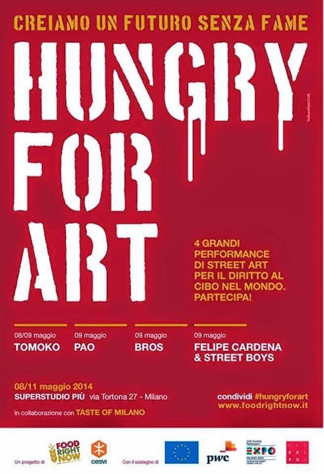 hungry for art di Cesvi tra gli eventi più interessanti di Taste of Milano