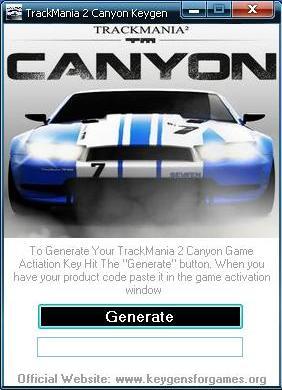 trackmania 2 canyon serial key generator