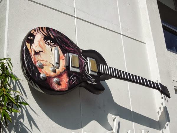 Welcome to my Nightmare guitar sculpture Stacey Wells