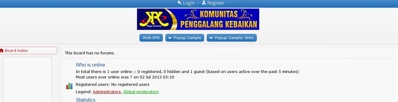 Website Blog Komunitas Blogger KPK, MizTia Respect