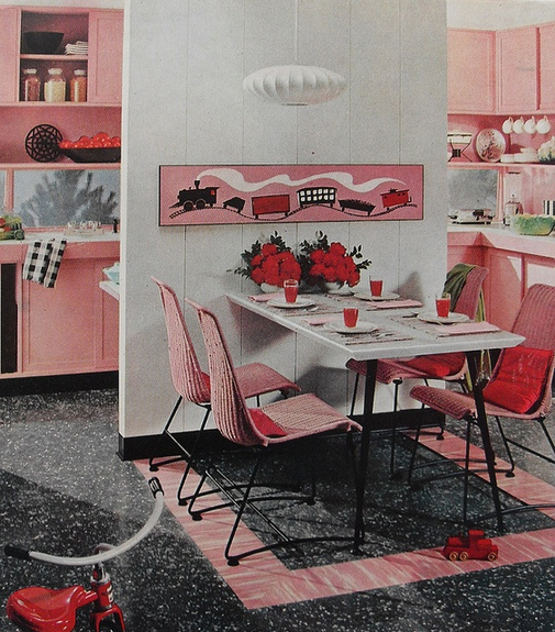 Oh So Lovely Vintage Bright 60 39 S Kitchen Cabinets
