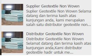 Jual Geotextile di Surabaya