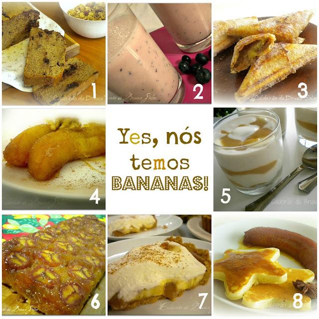 especial receitas com bananas