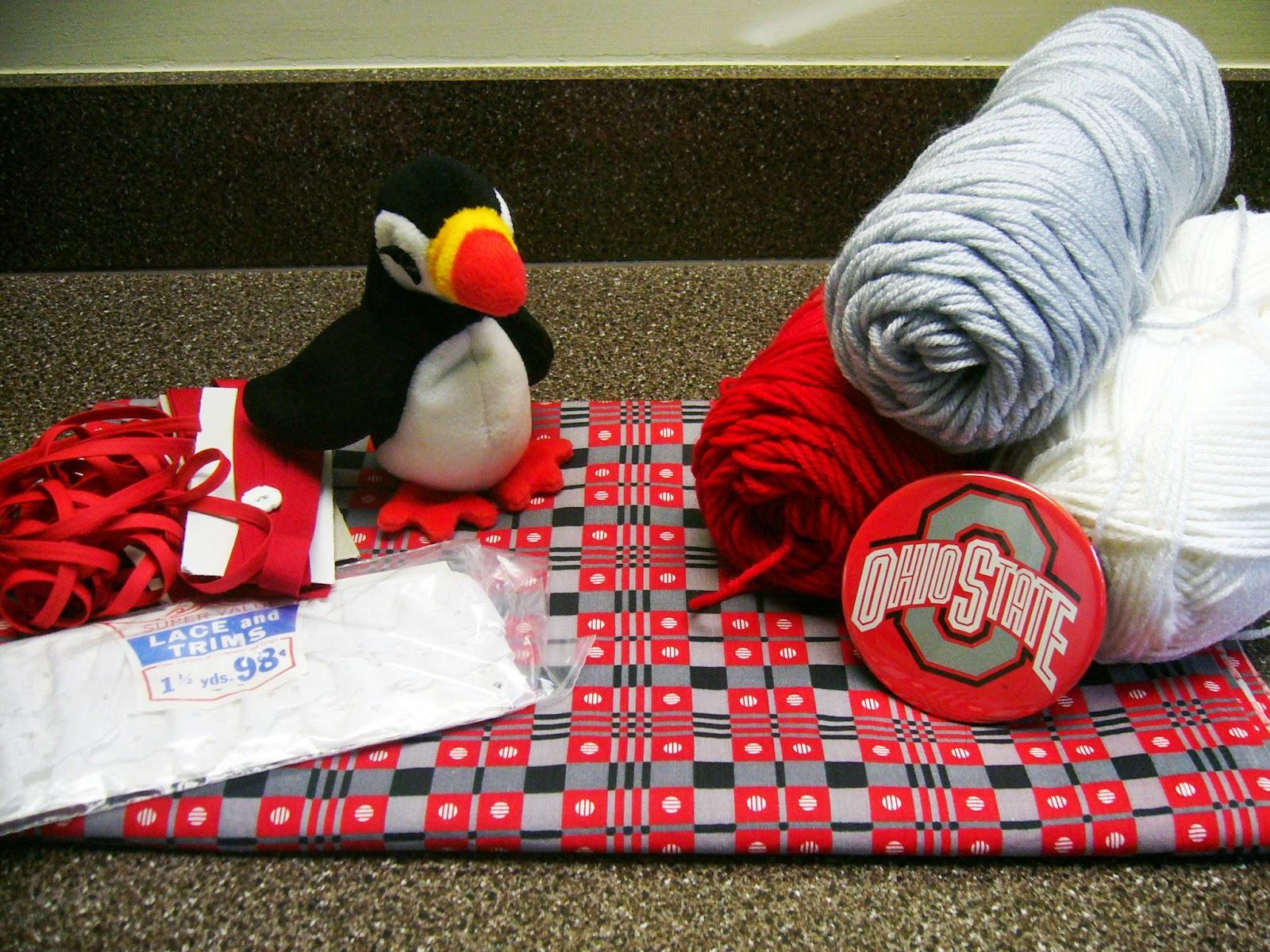 The Ohio State Buckeyes Shoe Box Crafting Supplies