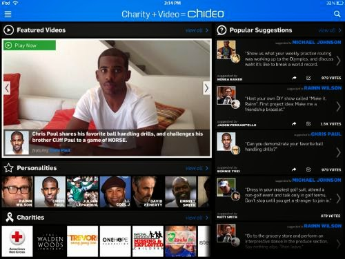 New Chideo (charity + video) app released for iPhone-iPad-iPod touch