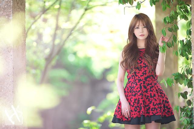 3 Han Ga Eun - Lovely Ga Eun In Outdoors Photo Shoot - very cute asian girl-girlcute4u.blogspot.com