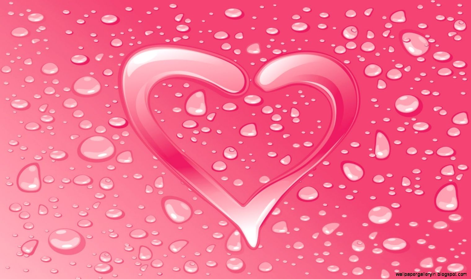 Love Pink Water Animated Hd Wallpaper
