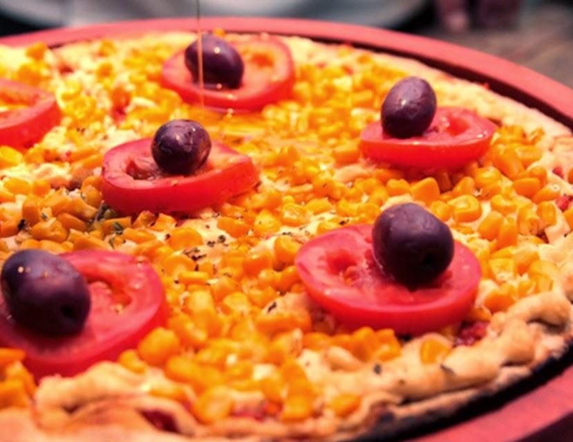 Pizza de Milho Verde (vegana)