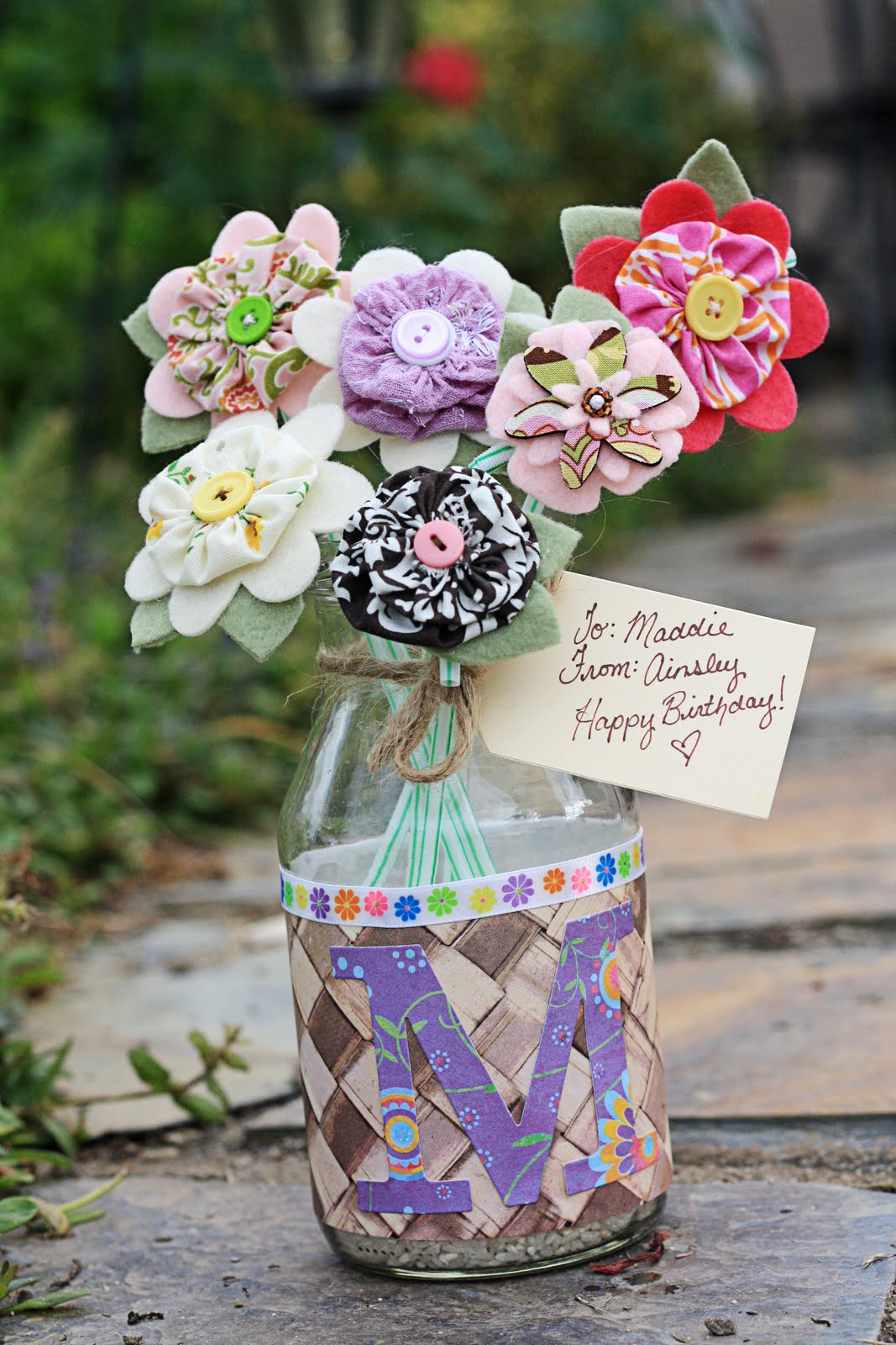 Notes From The Plumb Tree Flower Hair Clip Birthday Bouquet Idea