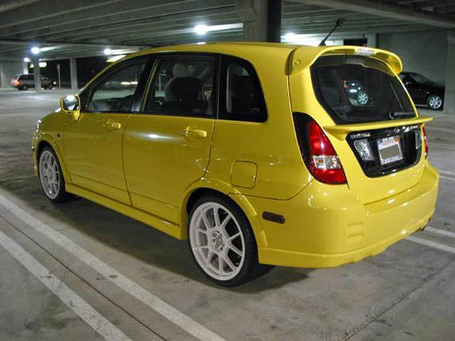 Mobil Suzuki Aerio Kuning Modif