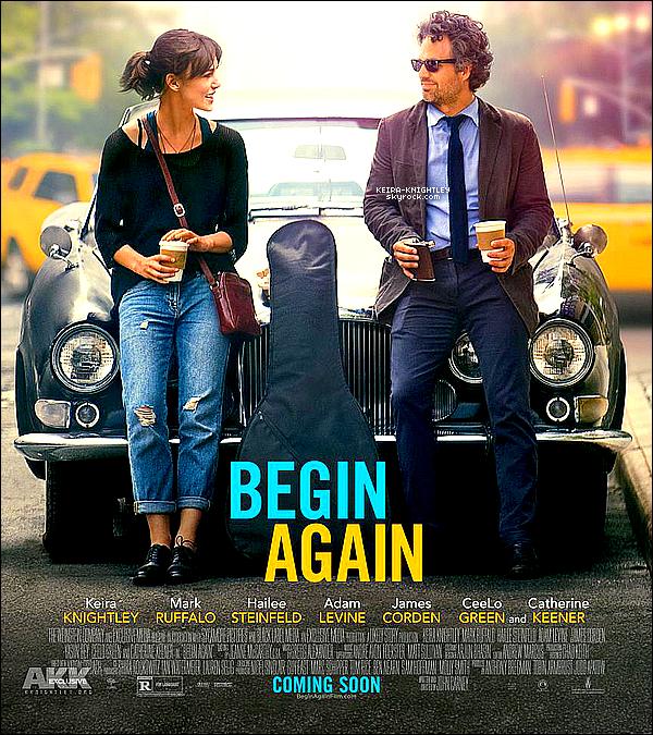 一個人去紐約 曼 哈 頓 練 習 曲 Begin Again 電 影 海 報
