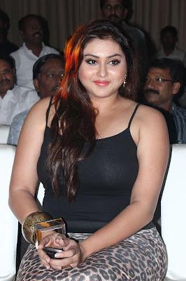 namitha black dress