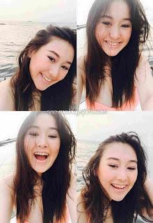 Kathy Indera Selfie Dipantai Terbaru