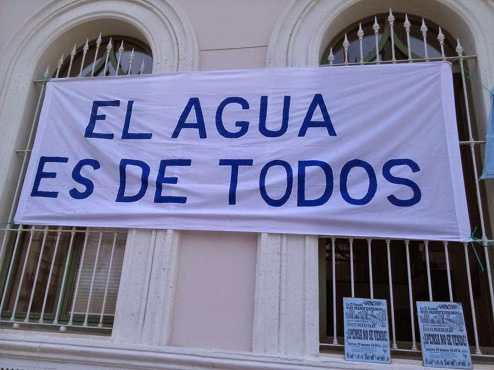 ¡Gestión Pública del agua YA!