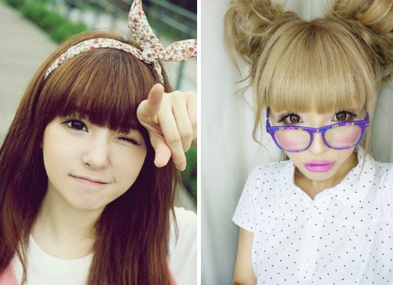 Ulzzang VS Gyaru ~ This life is confusing - Bad Girl Hairstyles