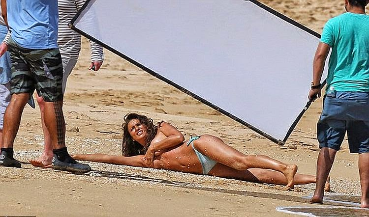 Irina Shayk was pictured on location for a photo shoots session on Sunday, May 4, 2014 at Hawaii.