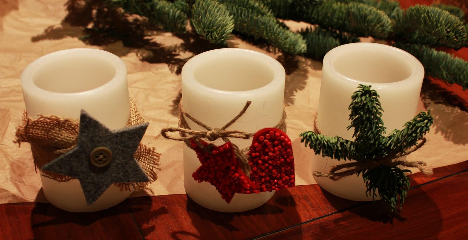 Velas navidad tallerdeluna - Velas decoradas para navidad ...