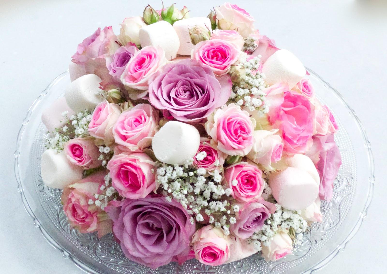 Prototype de centre de table fleur et bonbon - Centre de table fleur mariage ...