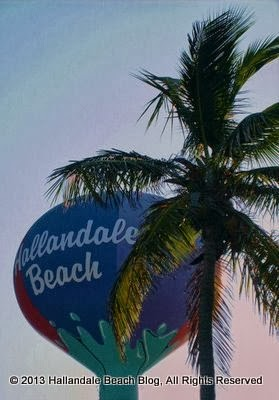 Hallandale Beach's iconic beachball-colored Water Tower