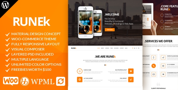 download Runek - Material Design WordPress Theme