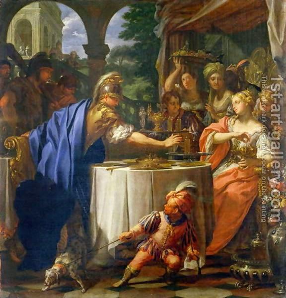 banchetul-lui-marc-antoniu-si-cleopatra-de-francesco-trevisani-1717