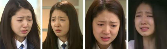 Cha Eun Sang played by Park Shin Hye weeping in various scenes.