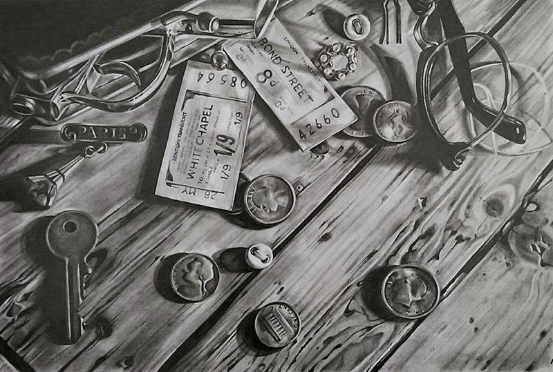 09-The-Handbag-Kate-Brinkworth-Black-&-White-Photo-Real-Paintings-&-Drawings-www-designstack-co