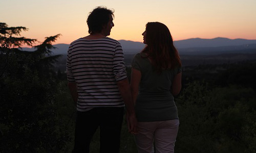 7 Ways To Tell A Girl Is Interested In You,man woman girl guy sunset beautiful romantic love
