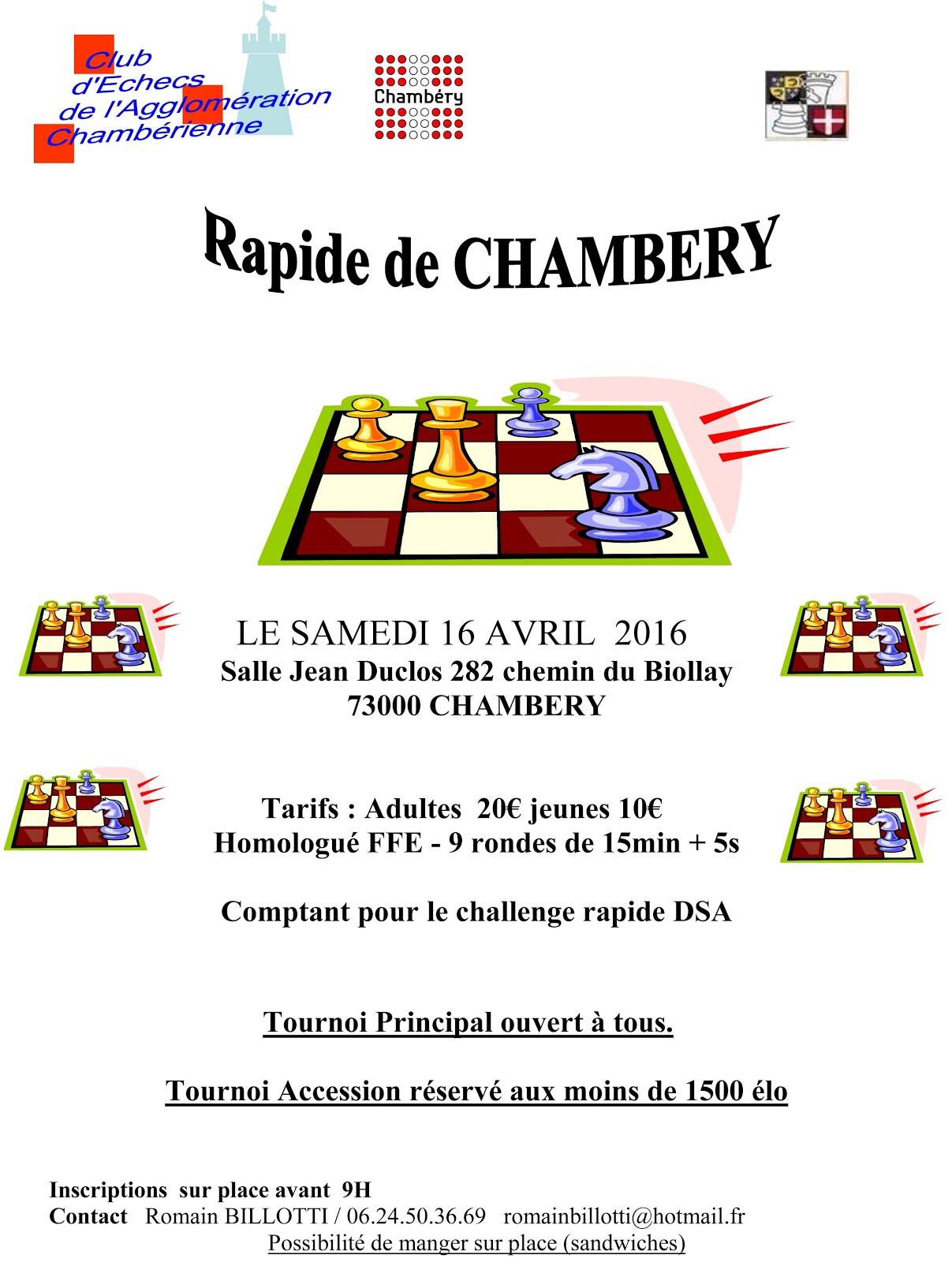 16 avril : Chambéry
