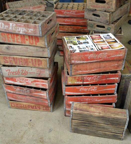 Vintage Soda crates dr. pepper seven-up coca cola