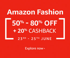 Amazon Mega Fashion Sale 23-25 June