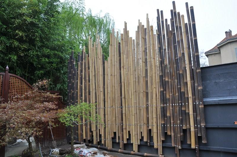Une Palissade En Bambous Pour Un Jardin Japonais Dans Le Val D 39 Oise Taffin Jardinerie De