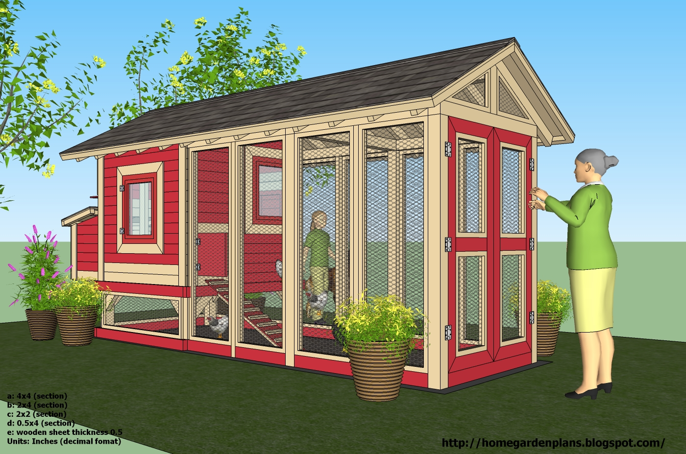 Home garden plans m102 chicken coop plans how to for Plans for chicken coops