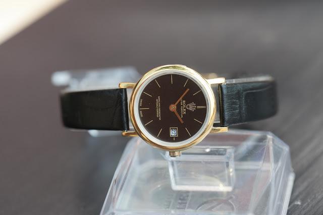 Đồng hồ nữ dây da Rolex đẹp 2016