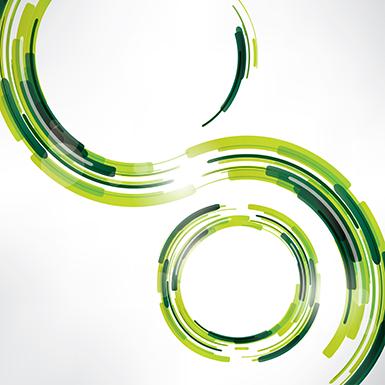 marco o fondo circular verde, vectorial