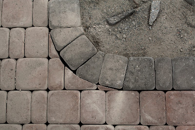 Detail of paver edging