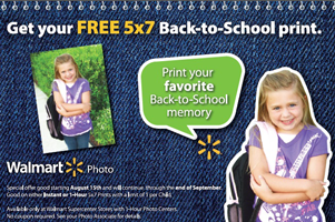 Free 5×7 Photo Print at Walmart